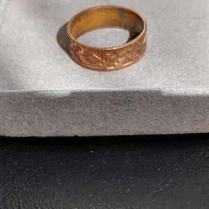 Other - Designer Copper Aztec Pattern Ring